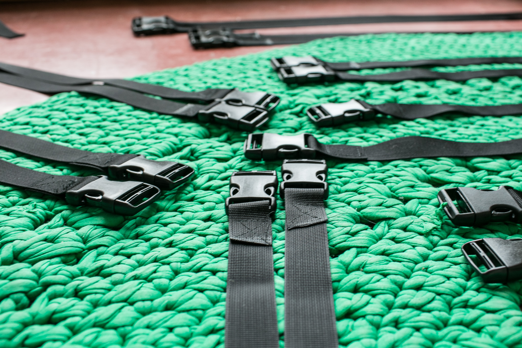 Straps with attached buckle